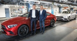 The production of the new Mercedes-Benz CLS started in Sindelfingen