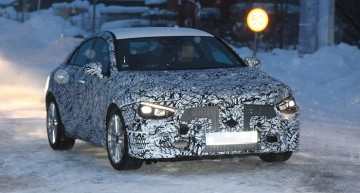 2019 Mercedes CLA spotted on winter tests