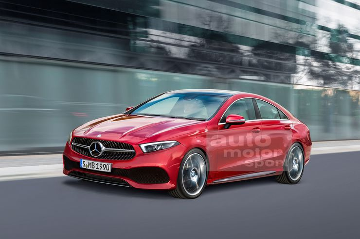 2019 mercedes cla spotted on winter tests mercedesblog. Black Bedroom Furniture Sets. Home Design Ideas