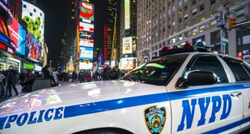 Police officer hit by Mercedes C 63 AMG in Times Square
