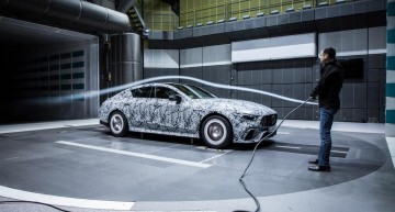 4-door Mercedes-AMG GT goes into the wind tunnel