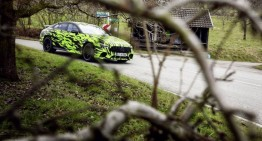 Now that's a teaser – The 4-door Mercedes-AMG GT Coupe photographed in daring livery
