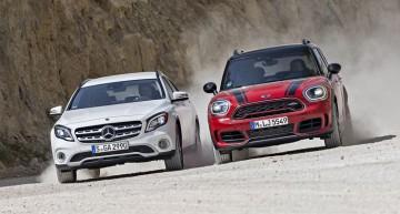 Mercedes GLA 250 vs. Mini Countryman JCW: Sporty compact SUVs with 200+ hp
