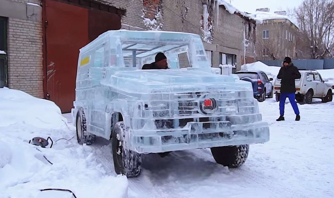 Russian builds an ice G-Class and it's drivable!