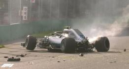 Lewis Hamilton on pole at the Australian Grand Prix, Bottas crashes badly