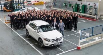 Production of the Mercedes-Benz GLA started in Sindelfingen