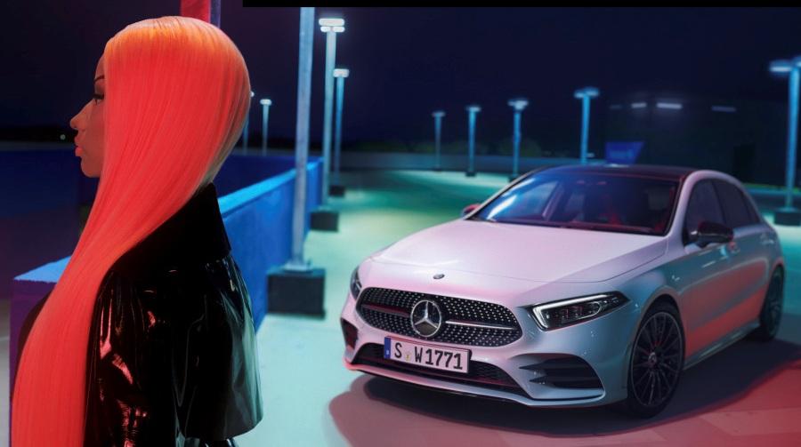 """Nicki Minaj and the new A-Class. """"Just like you"""" campaign"""