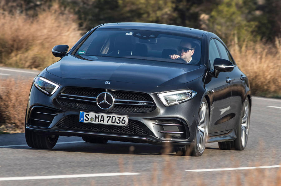 Der neue Mercedes-Benz CLS & Mercedes-AMG CLS 53 4MATIC+ | Barcelona 2018 // The New Mercedes-Benz CLS & Mercedes-AMG CLS 53 4MATIC+ | Barcelona 2018, Mercedes-AMG CLS 53 4MATIC+, graphitgrau Leder Nappa AMG bengalrot/schwarz, (Kraftstoffverbrauch kombini