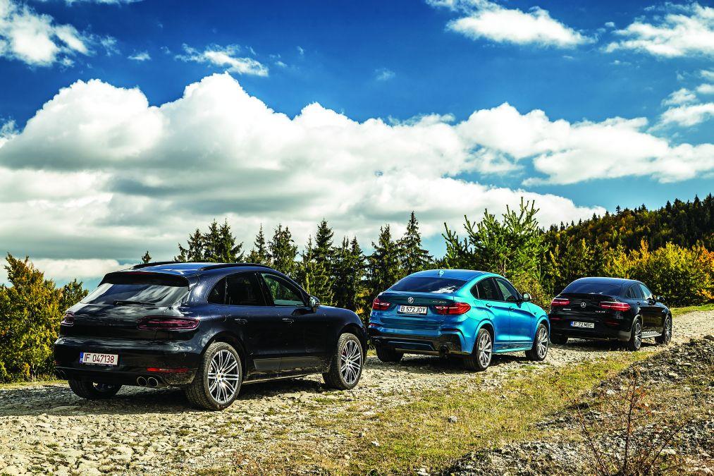 mercedes-AMG GLC 43, Porsche Macan GTS, BMW X4c M40i (1)