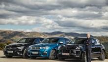 mercedes-AMG GLC 43, Porsche Macan GTS, BMW X4c M40i (2)