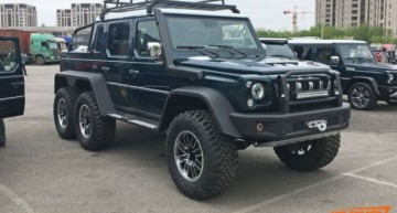 Copycat. China's BAIC build their own Mercedes-AMG G63 6×6