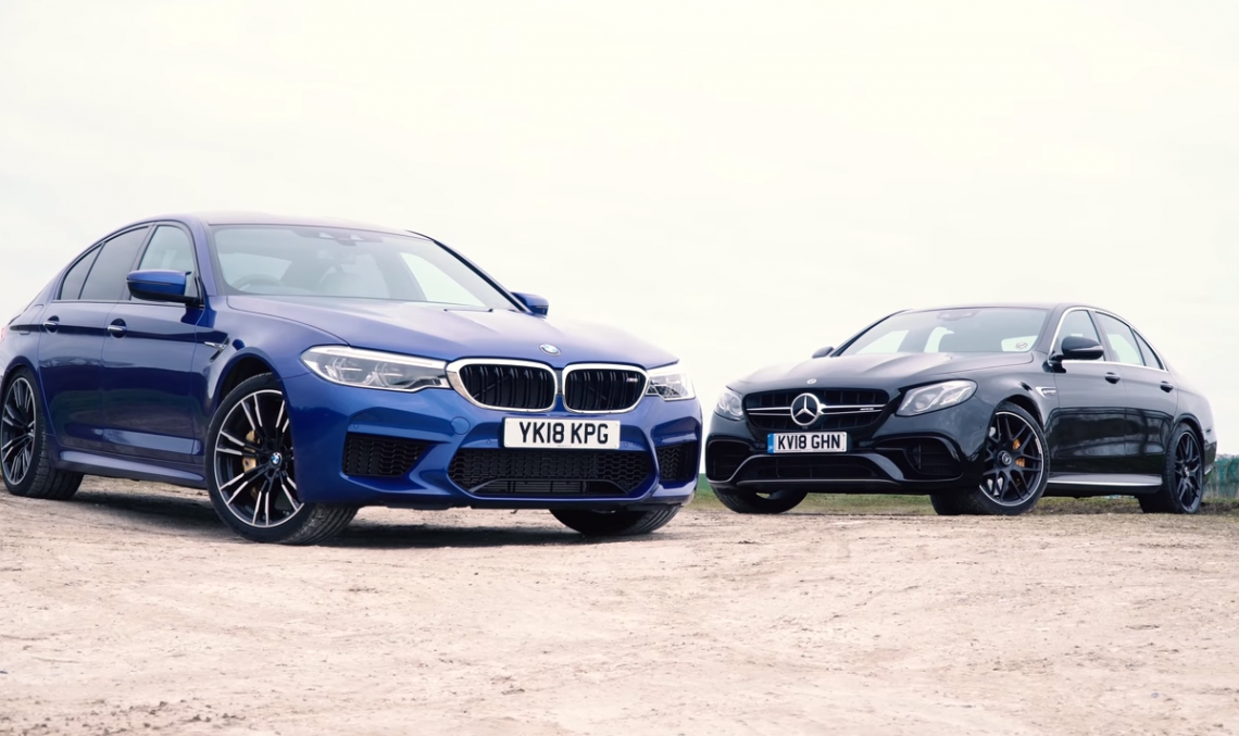 VIDEO REVIEW: 600 hp BMW M5 vs 612 hp Mercedes-AMG E 63 super test