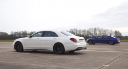 VIDEO: Mercedes-AMG S 63 versus BMW M760Li drag race