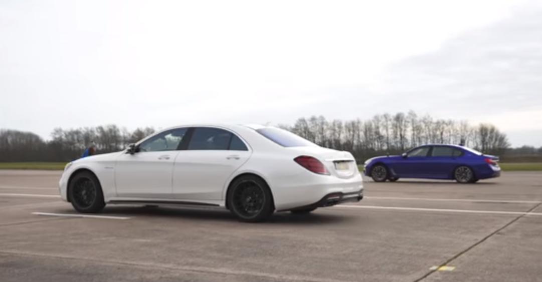 VIDEO: Mercedes-AMG S 63 versus BMW M760Li drag race