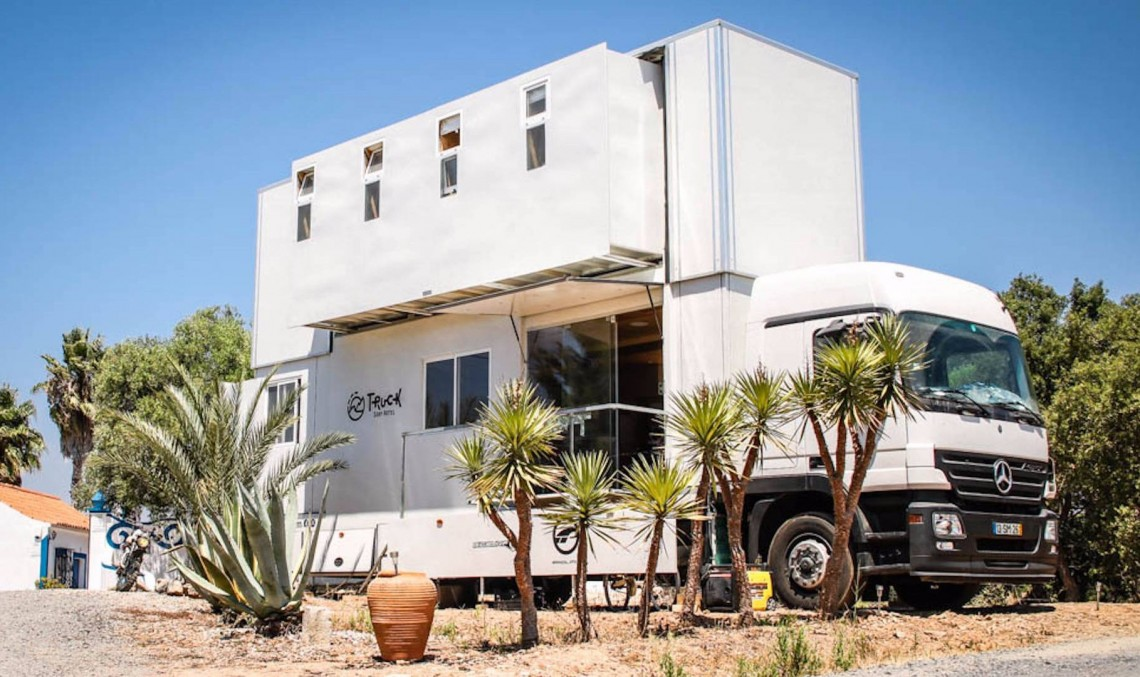 Hotel Actros? This is the Mercedes-Benz Actros truck that became a 2-story hotel