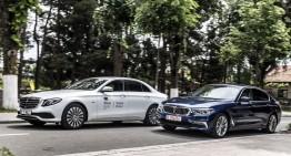 Exclusive: comparison test Mercedes E 350 e vs BMW 530e