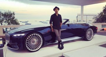 Now that's a company car – Lewis Hamilton is dreaming of the Mercedes-Maybach Vision 6 Cabriolet