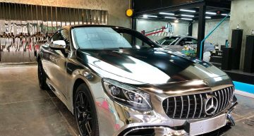 This Mercedes-AMG S63 Coupe was dipped in silver