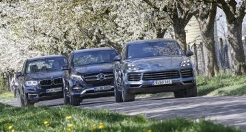 Luxury SUV comparison TEST: Mercedes GLE versus new Porsche Cayenne and BMW X5
