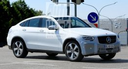 Mercedes GLC Coupe facelift gets new headlights – first spy pics
