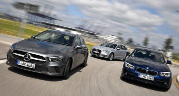 The new Mercedes A 180 d vs Audi A3 Sportback, BMW 1 Series by Auto Bild