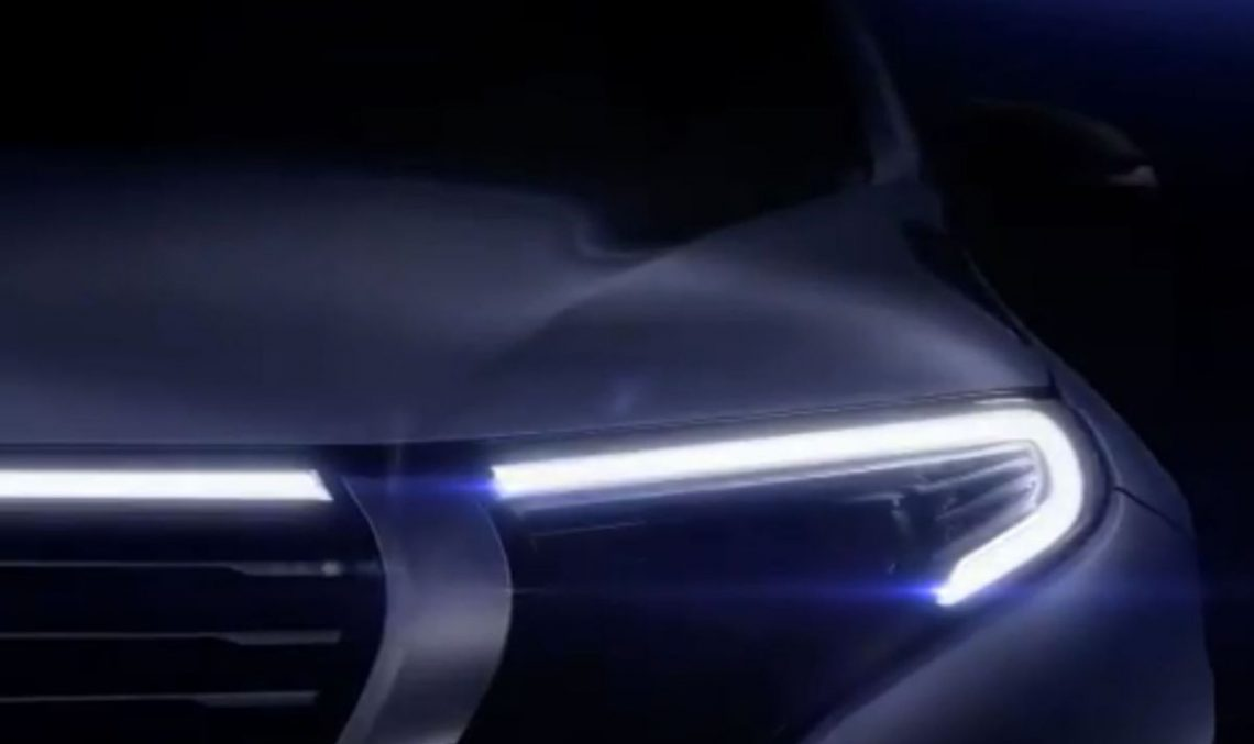 Mercedes-Benz EQ C electric SUV teased one more before 4 September reveal