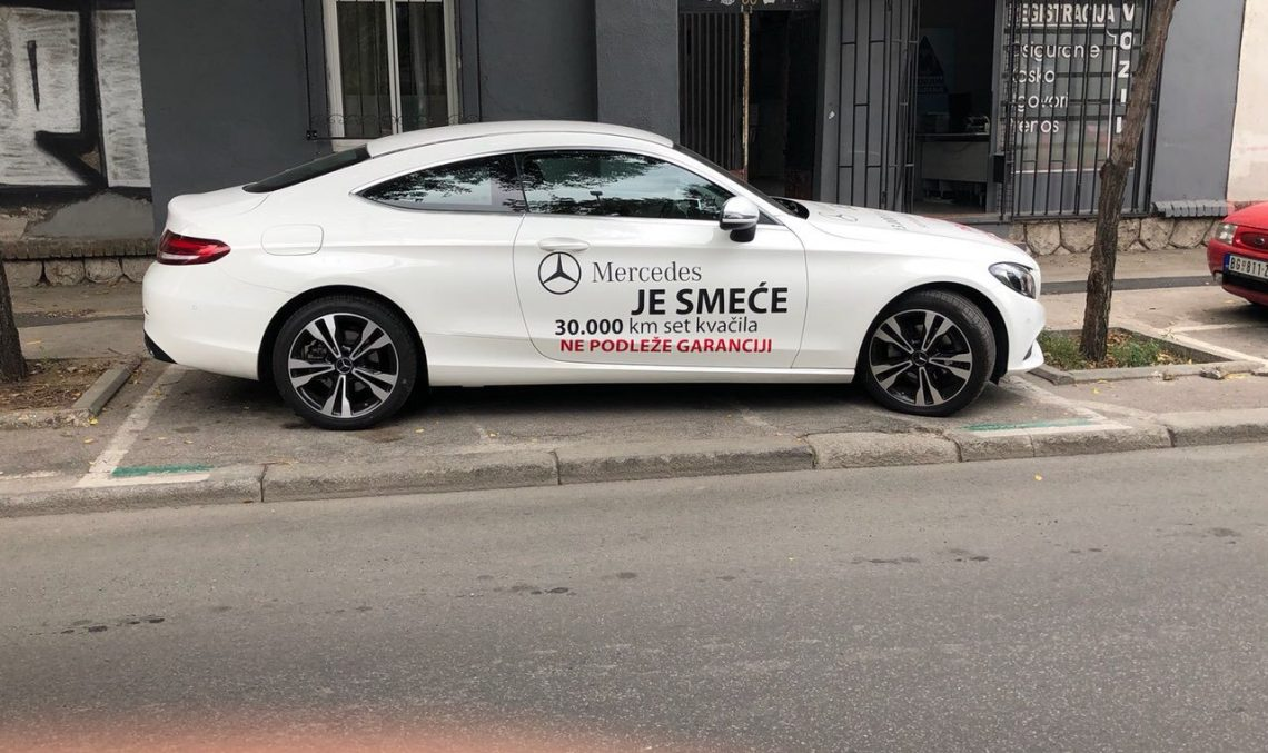 Furious Serbian owner publicly shames his own C-Class Coupé