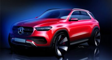 Future Mercedes-Benz GLE shows up in a very revealing sketch