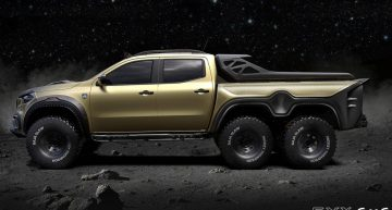 Monster! Carlex Design prepares the six-wheeled Mercedes-Benz X-Class