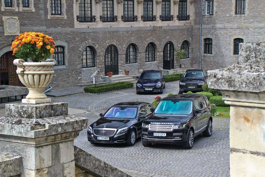 The Luxury Squadron: S 350 Bluetec vs A8, 740d, Range Rover