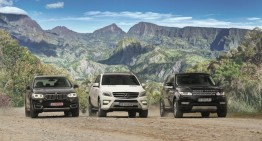 Champions League: ML 350 BlueTec against BMW X5 and Range Rover Sport