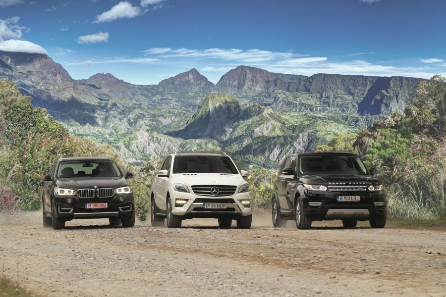 Champions League Ml 350 Bluetec Against Bmw X5 And Range Rover Sport