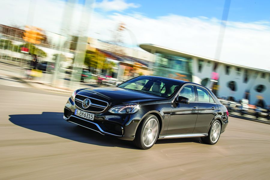 E 63 AMG: An airplane on the road