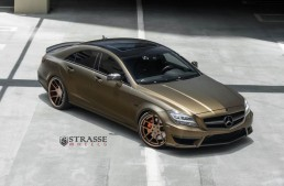 Standing out in the crowd: matte gold CLS 63 AMG