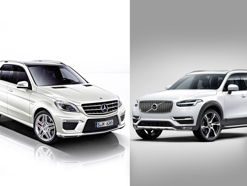 New Volvo XC90 vs Mercedes ML: first static evaluation