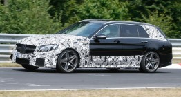 The New C 63 AMG at Paris Motorshow with the New 4 litre V8 bi-turbo and 510 HP