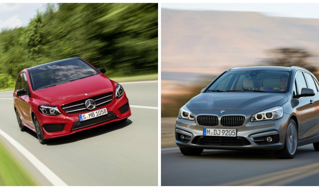 The Mercedes B-Class facelift vs the BMW 2 Series Active Tourer