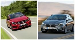 The Mercedes B-Class facelift vs the BMW 2 Series Active Tourer