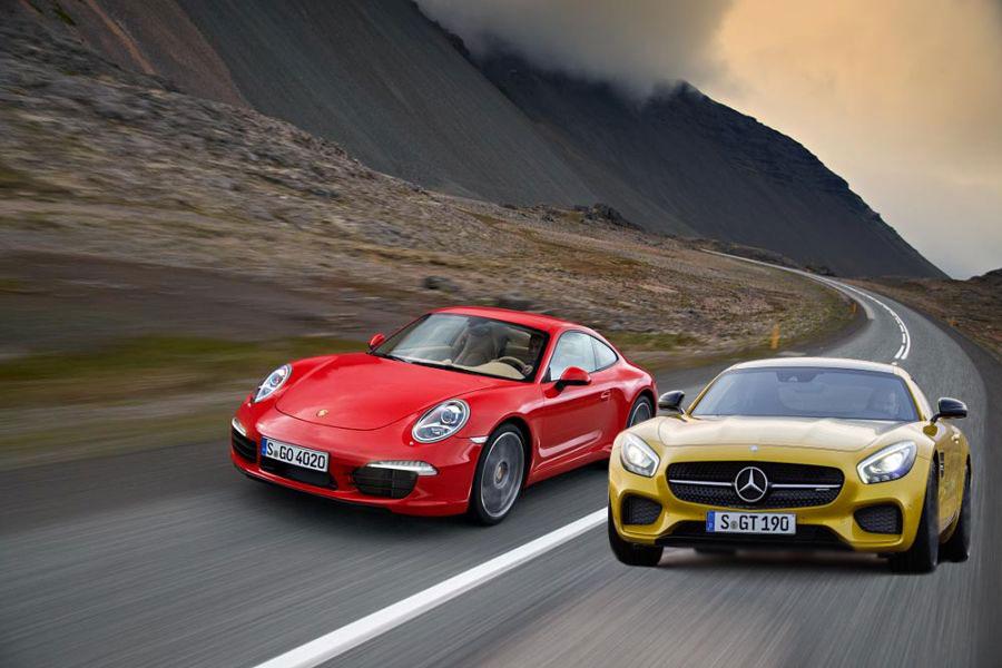 AMG GT vs Porsche 911 family