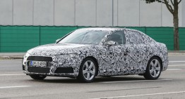 C-Class Rival Audi A4 Spied Heavily Camouflaged