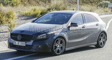 Exclusive: The First Pictures of the Mercedes A-Class Facelift