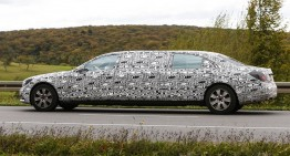 Mercedes-Benz S 600 Pullman spied for the first time
