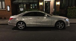 The Mercedes-Benz covered in Swarovski was sold