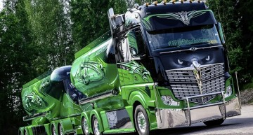 "A Mercedes-Benz Actros Wins the ""Nordic Trophy 2014"""