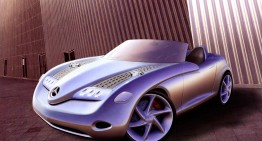 The roadster recipe, distilled – Mercedes-Benz Vision SLA