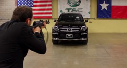 Armored Mercedes-Benz GL SUV withstands AK-47 shots