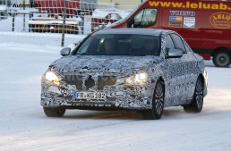 Mercedes-Benz E-Class spied again, this time while testing on snow