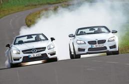 Sport Auto magazine comparison test: Mercedes SL 63 AMG vs BMW M6 Cabrio