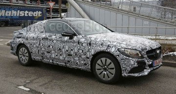 Exclusive: First Mercedes C-Class Coupe Spy Shots