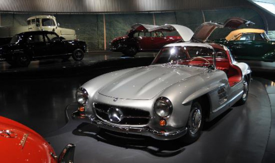 First car ever to feature an airbag at the Mercedes-Benz Museum